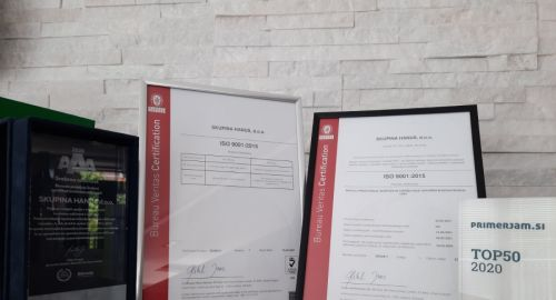 Skupina Hanus - ponosni prejemnik ISO standarda kakovosti